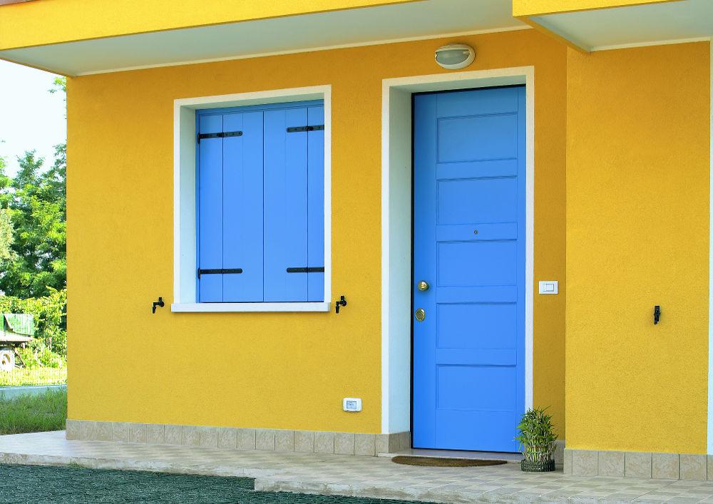 porta-blindata-azzurro-oikos-modello-Evolution_2 [©OIKOS] aria-label=